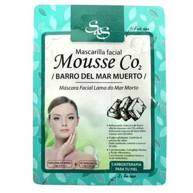 mascarilla facial co2 barro del mar muerto