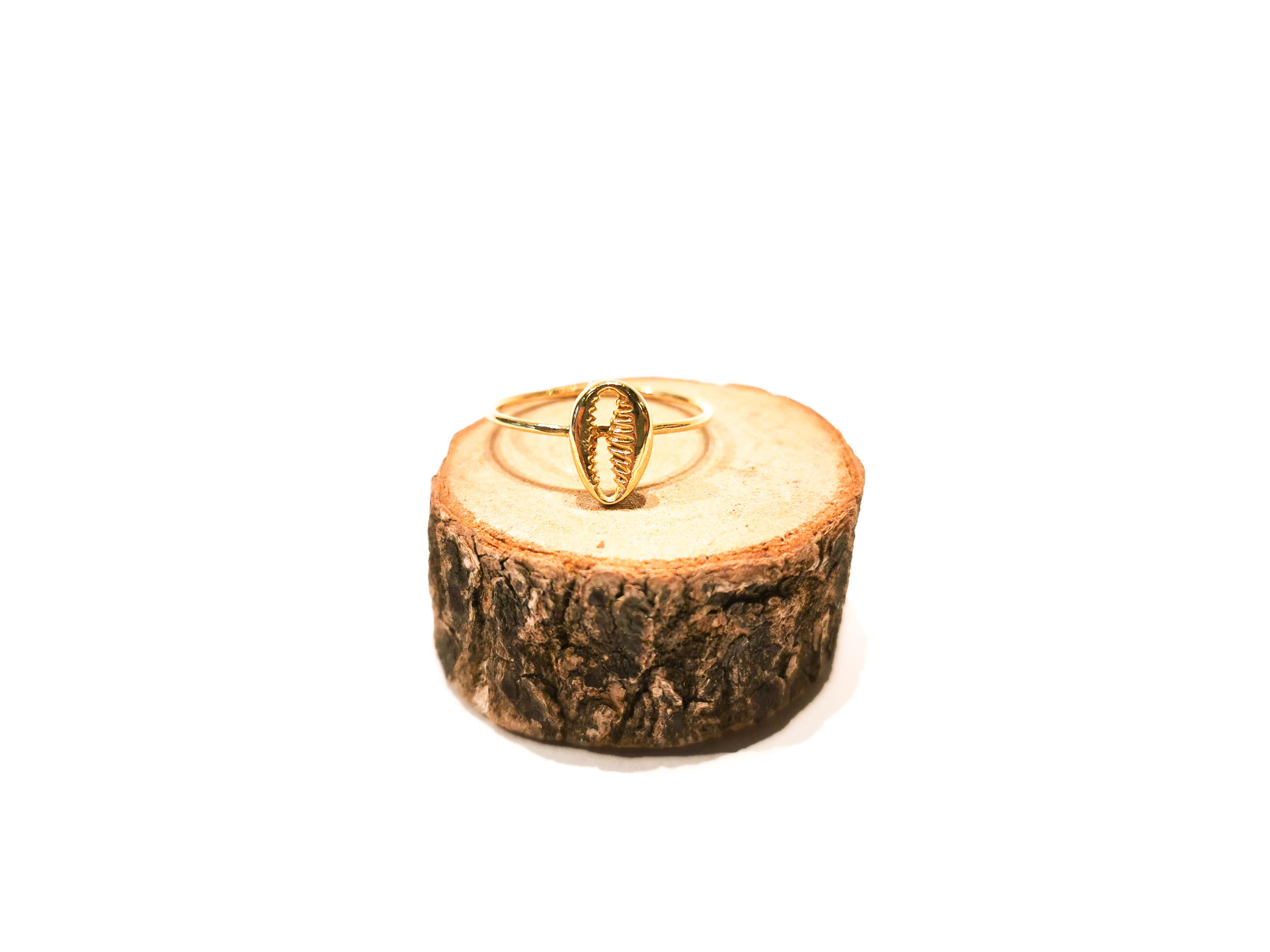 anillo oro concha