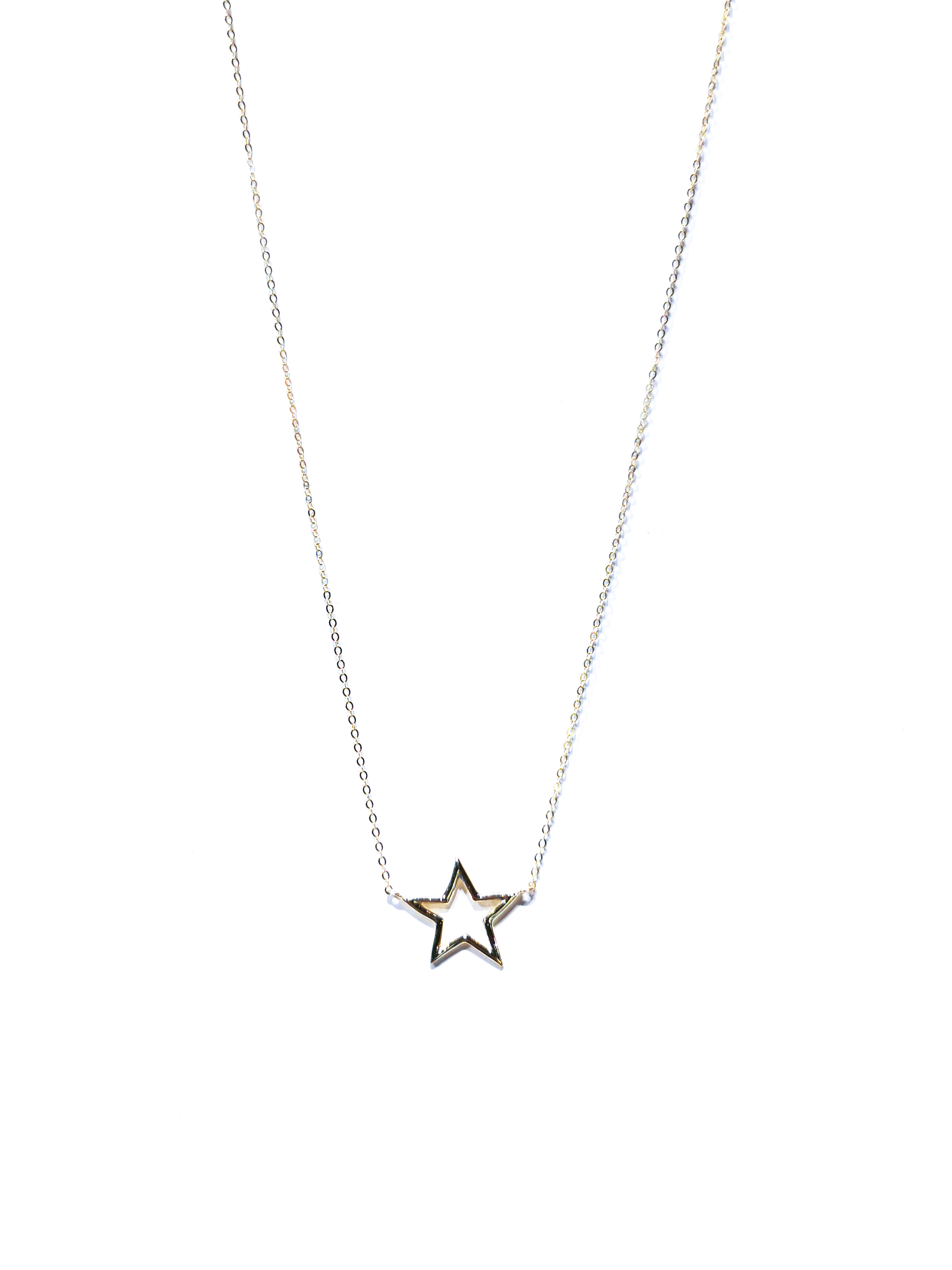 gargantilla estrella grande plata
