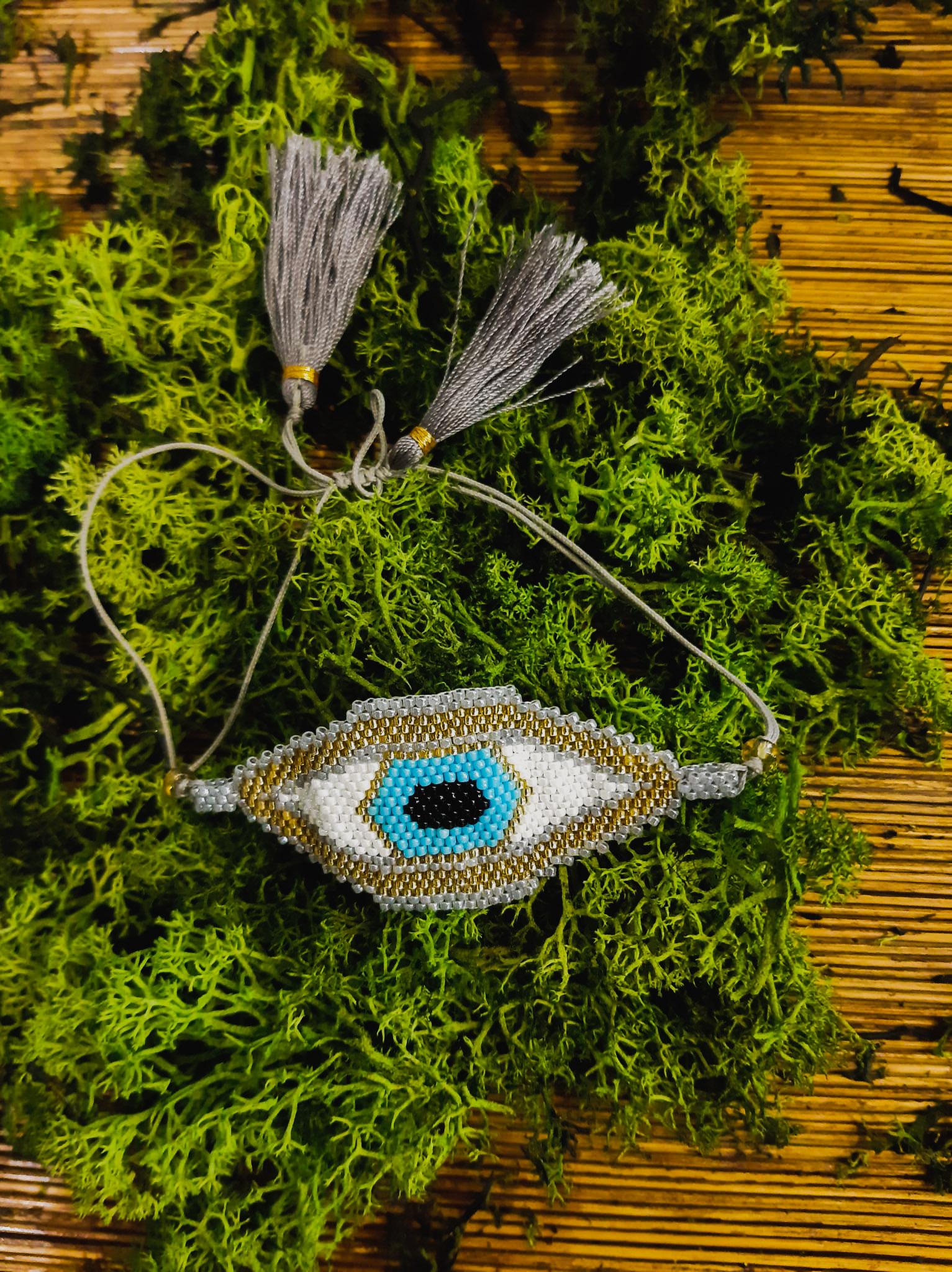 pulsera  balinesa ojo egipcio