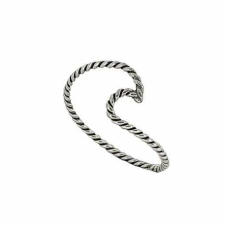 anillo de plata virada con forma de ola